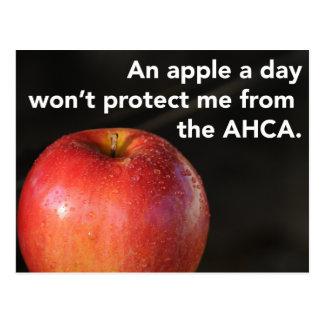 Carte Postale Une pomme par jour pour arrêter l'AHCA ! Soins de