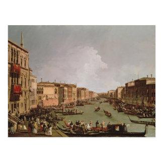 Carte Postale Une régate sur le canal grand, c.1735