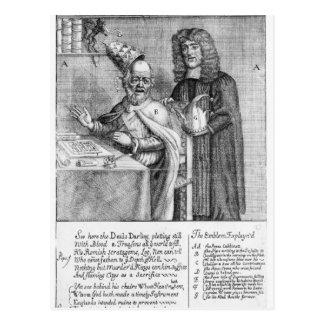 Carte Postale Une représentation de Titus Oates