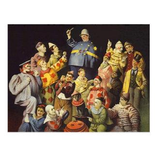 Carte Postale UNE RÉUNION d'anneau de la Loi de cirque d'humour