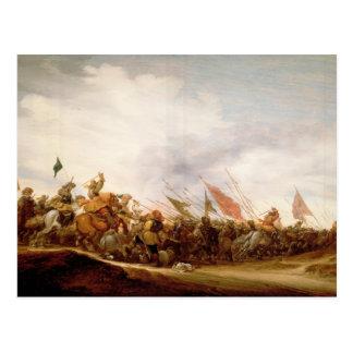 Carte Postale Une scène de bataille, 1653