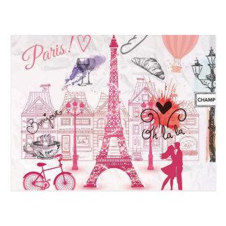 Carte Postale Une soirée à Paris