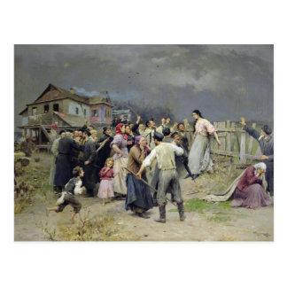 Carte Postale Une victime du fanatisme, 1899