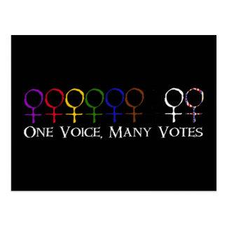 Carte Postale Une voix, beaucoup de votes