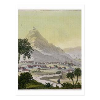 Carte Postale Une vue de la banlieue noire de Lima, Pérou, de