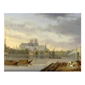 Carte Postale Une vue de pont de Westminster et de l'abbaye du