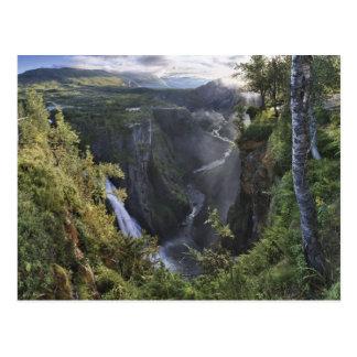 Carte Postale Une vue large de soirée - Hordaland, Norvège