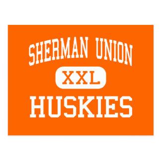 Carte Postale Union de Sherman - chiens de traîneau - haute -