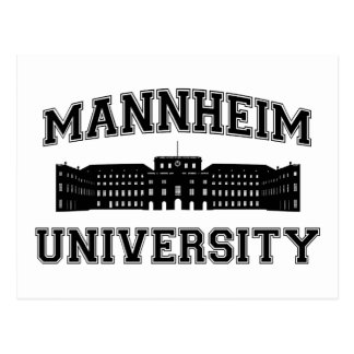 Carte Postale Universität Mannheim/université de Mannheim