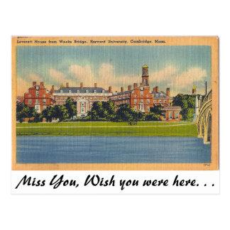Carte Postale Université de Harvard, Cambridge, le Massachusetts