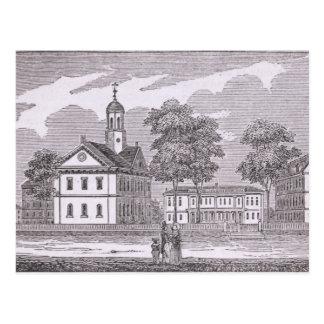 Carte Postale Université de Harvard, de 'historique
