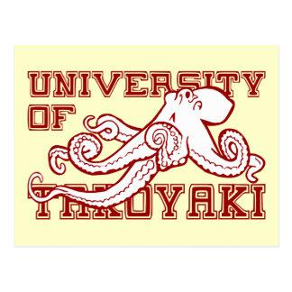 Carte Postale Université du poulpe japonais de Takoyaki drôle