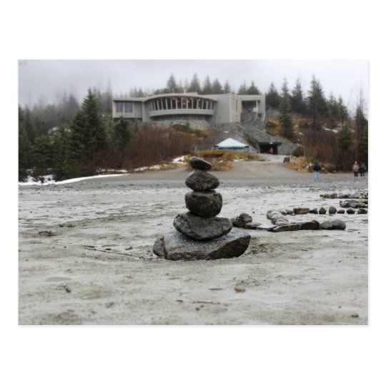 Carte Postale USA - Alaska - Juneau - Mendenhall & Inukshuk