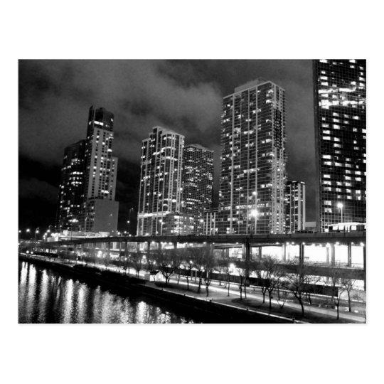 Carte Postale USA - Illinois - Chicago - Black & White
