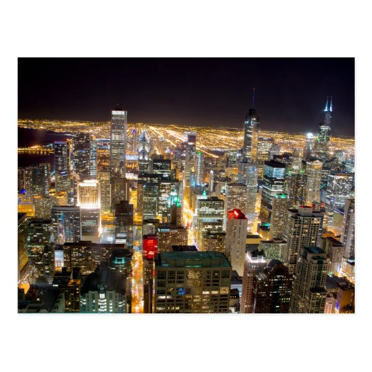 Carte Postale USA - Illinois - Chicago Skyline