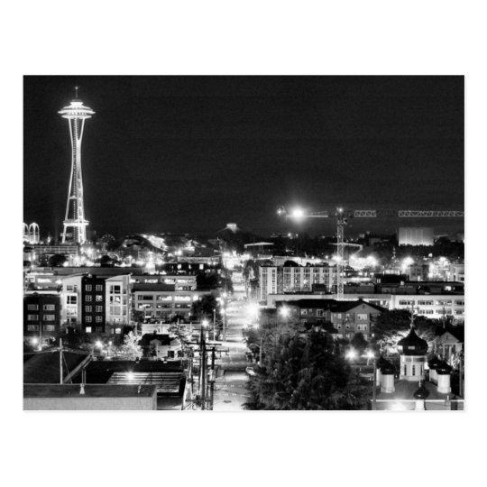 Carte Postale USA - Washington - Seattle - Space Needle in B&W