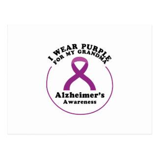 Carte Postale Usage de conscience d'Alzheimers pour mon cadeau