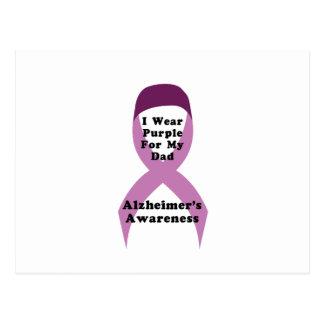 Carte Postale Usage de conscience d'Alzheimers pour mon GIF de