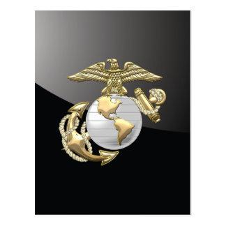 Carte Postale Usmc Eagle, globe et ancre (EGA) [3D]