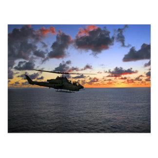 Carte Postale Usmc superbe de cobra d'AH-1W