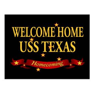 Carte Postale USS à la maison bienvenu le Texas