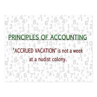Carte Postale Vacances accrues de comptabilité