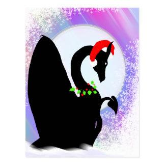 Carte Postale Vacances de lune de dragon (brume colorée)