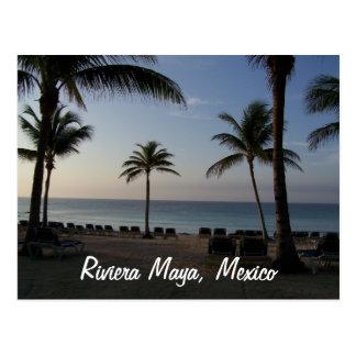 Carte Postale Vacances de plage de Cancun Mexique de Maya de la