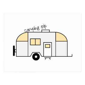 Carte Postale Vacances en camping
