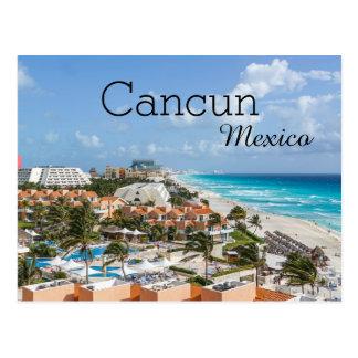 Carte Postale Vacances tropicales Cancun Mexique de plage
