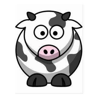 Carte Postale Vache drôle mignonne