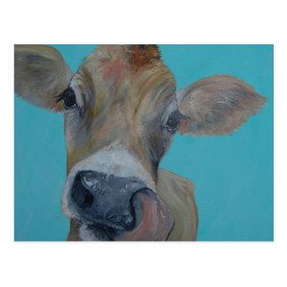 Carte Postale Vache du Jersey