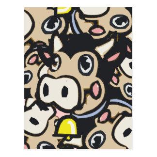Carte Postale Vache Kitschy à MOO de laiterie d'art de bruit