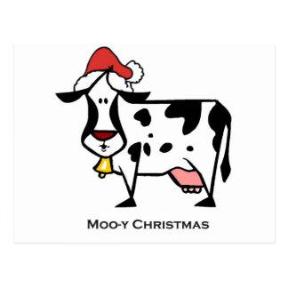 Carte Postale Vache mignonne à Noël