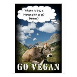 Carte Postale vache végétalienne