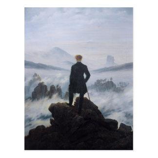 Carte Postale Vagabond au-dessus de la mer du brouillard