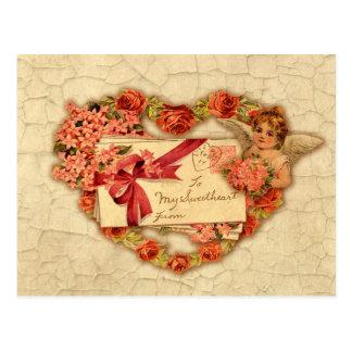 Carte Postale Valentine victorien