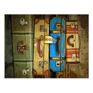 Carte Postale Valises vintages