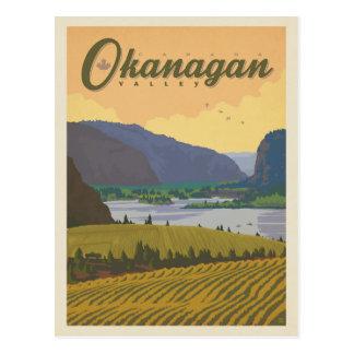 Carte Postale Vallée | Canada d'Okanagan