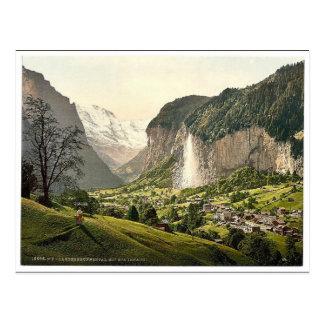 Carte Postale Vallée de Lauterbrunnen avec Staubbach, Bernese
