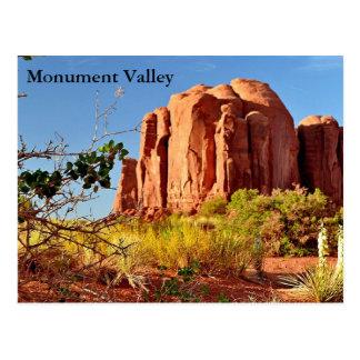 Carte postale - vallée de monument
