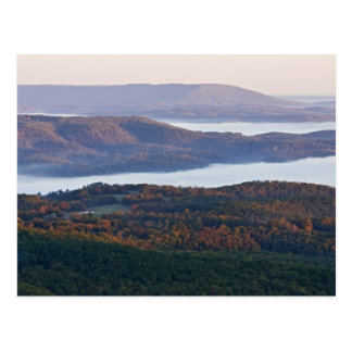 Carte Postale Vallées et feuillage d'automne brumeux dans Ozark