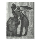Carte Postale Vampire à ailes victorien/gothique d'un baiser