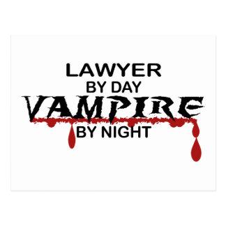 Carte Postale Vampire d'avocat par nuit