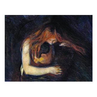 Carte postale : Vampire par Edvard Munch