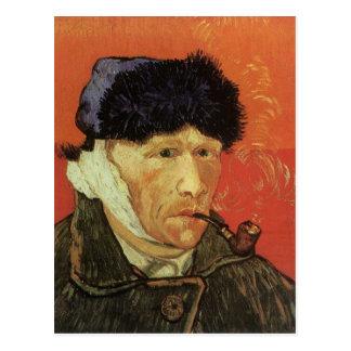 Carte Postale Van Gogh - homme avec le tuyau
