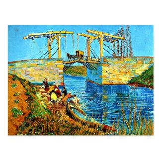 Carte Postale Van Gogh - le pont de Langlois chez Arles avec des