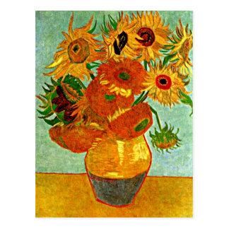 Carte Postale Van Gogh - tournesols, toujours vase à la vie avec