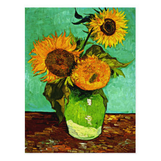 Carte Postale Van Gogh - tournesols, trois