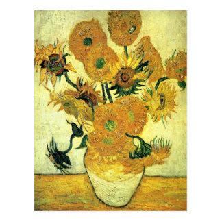 Carte Postale Van Gogh - vase toujours à la vie avec 14